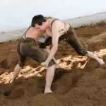 David and Helmut Wrestling