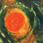 """universum II"", Acryl auf Papier, ca. 40 x 50 cm"