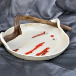 Keramik-Schale, Glasurbrand bei 1050°C, Treibholz