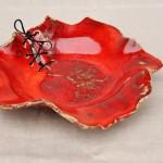 Keramik-Schale, weißer Ton, Glasurbrand bei 1050°C
